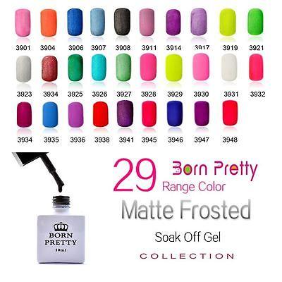 29 Beautiful Colors 10ml Born Pretty Summer Hot Matte Nail UV Gel Polish Soak Off Polish Good Quality