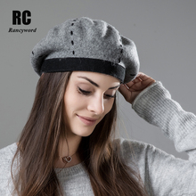 [Rancyword] Womens Beret Wool Hat High Quality 2018 New Berets For Girls Casual Warm Women Winter Hats Beanies RC2043