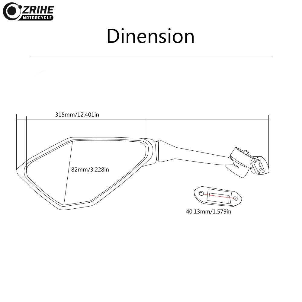 Motorcycle Mirrors Racing Sport Bike Rear View Mirror for Honda CBR 600 F2 F3 F4 F4i CBR600RR CB1000R CB599 CB600 CBR900RR NC700 in Side Mirrors Accessories from Automobiles Motorcycles