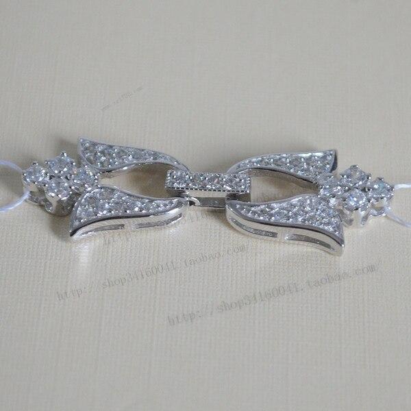Wholesale silver quality font b diamond b font pearl font b necklace b font clasp big