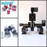Mjunit xy postioning eixo de movimento linear série apoio slide cnc alumínio ferroviário alta qualidade