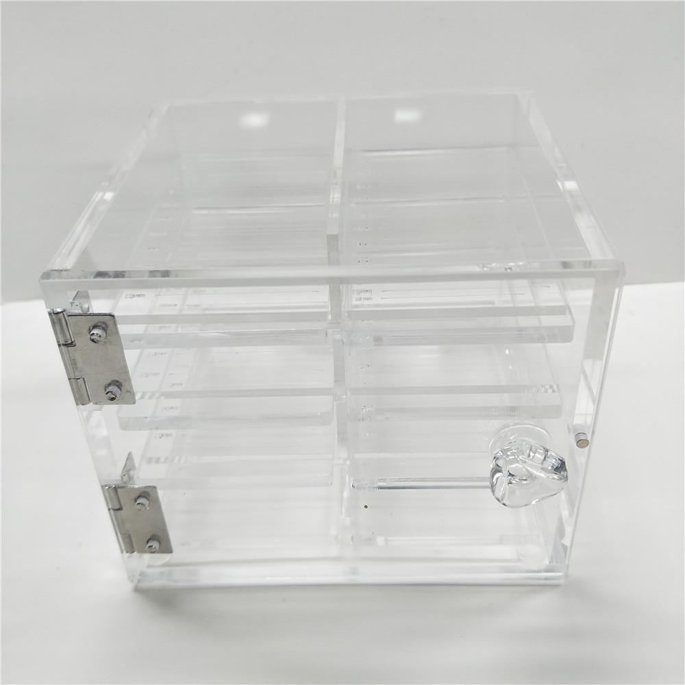 False Eyelash Lash Storage Box Eye Lashes Display Holder Acrylic Case Eyelash Extension Box Packaging Supplies