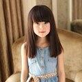 Мода девушка парики дети длинные прямые аккуратные удары прекрасные парики волос парень младенец парики волос симпатичные прохладный сладкий в возрасте от 1 до 10