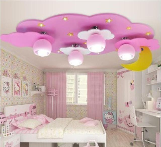 Kids Children Room To Absorb Dome Clouds Moon Light Male Cartoon Creative Bedroom Lamp