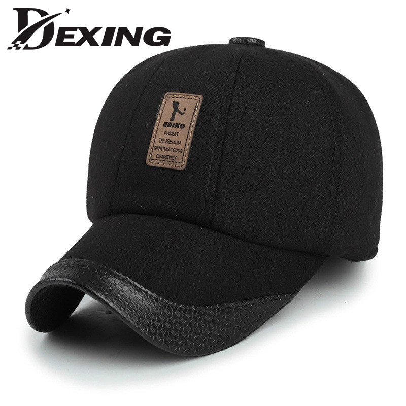 baseball hat with pig ears cap over cat autumn winter wool font