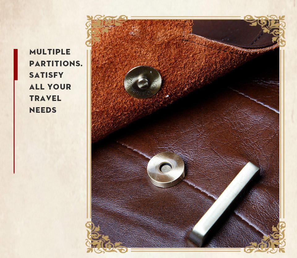 de couro genuíno do vintage bolsa ombro
