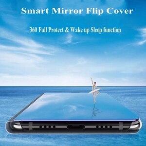 Image 5 - Mirror Smart Case For Xiaomi Mi Max 3 CC9E Case Clear View PU Leather Kickstand Flip Cover For Xiaomi MI A3 LITE Max 3 Redmi 10X