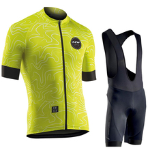 NORTHWAVE 2019 NW Summer Men Cycling Jersey Set Breathable bib shorts Bicycle Clothes 9D Gel Pad Clothing 21 colors