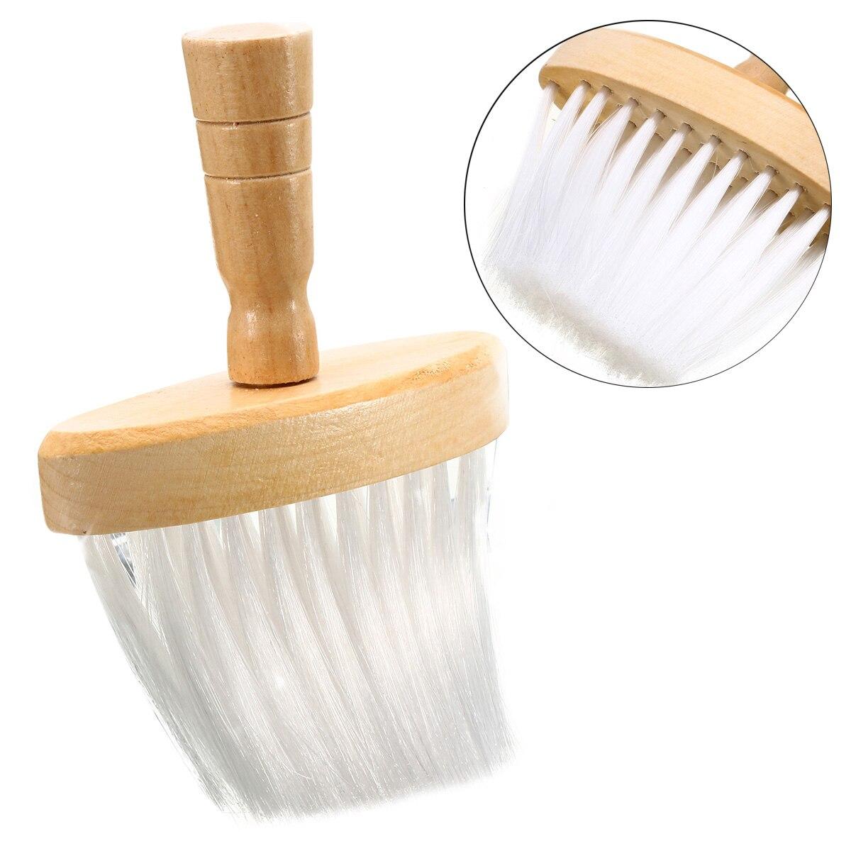 Mayitr 1pc Soft Neck Duster Brushes Wooden Handle Barber Wide Neck Duster Brush Barber Hair Clean Hairbrush  Styling Tools