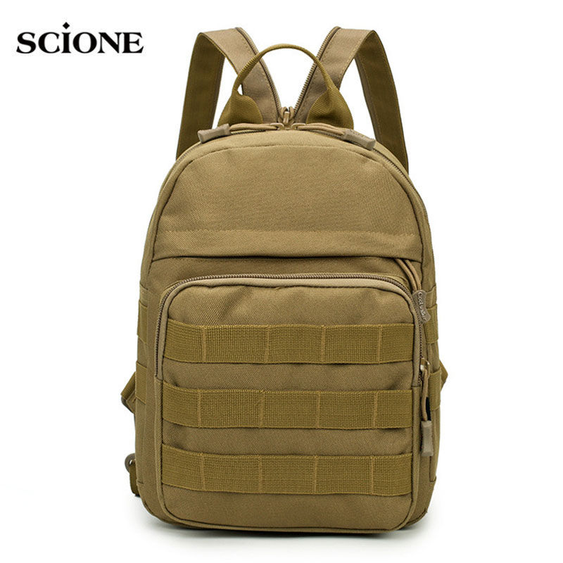 Outdoor Sports Small Mini Backpack Camping Military Tactical Rucksack Molle Shoulder Bags Waterproof Assault Sling Bag Xa411wa Sports & Entertainment Climbing Bags