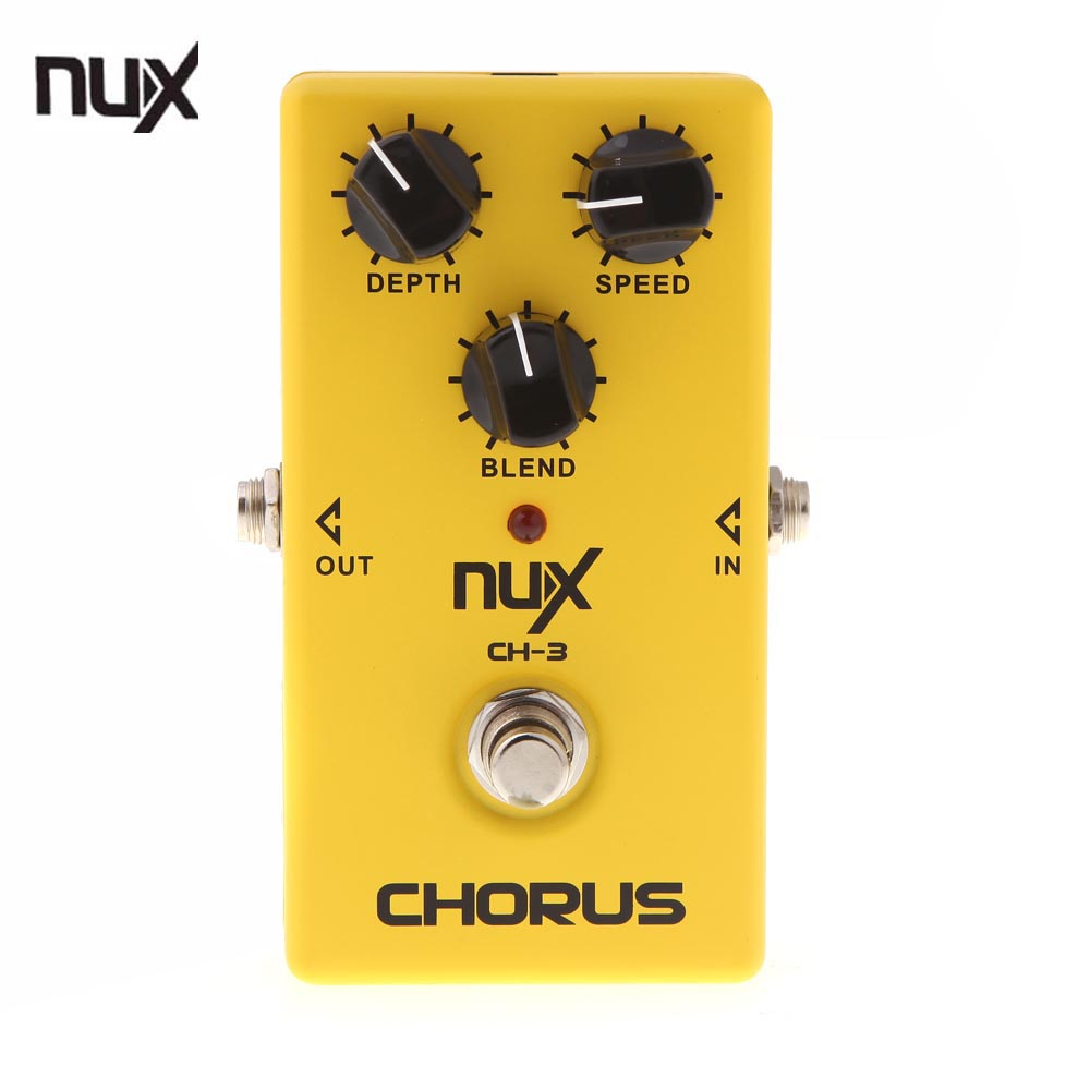 High Quality NUX CH-3 Electric Guitar Effect Pedal Chorus Low Noise BBD True Bypass Guitarra Effect Pedal Guitar parts mooer ensemble queen bass chorus effects effect pedal true bypass rate knob high quality components depth knob rich sound