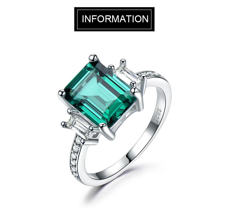 HTB1t5Jocy6guuRjy1Xdq6yAwpXaU UMCHO Green Emerald Genuine 925 Sterling Silver Rings for Women Promise Princess Gemstone Ring Wedding Romantic Jewelry Gift New