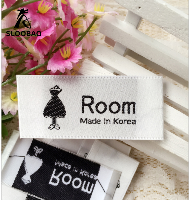 Separate Cut Folded Clothing Labels Custom Private Brand Washable Cloth Woven Labels Garment Tags Hair Wigs Labels 1000pcs/lot