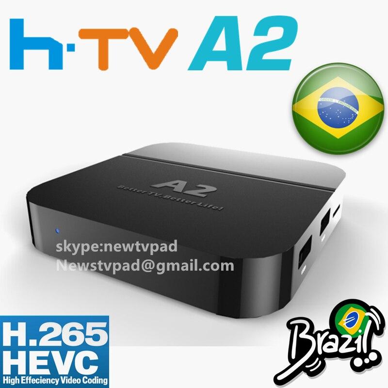 US $189 99 |[Genuine]A2 update from HTV BOX H TV 3 Brazilian Portuguese TV  Internet Streaming box Live IPTV Movies Brazil Media Player HTV5 on