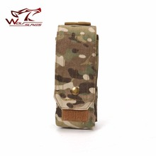 MOLLE Pouch Tactical Single Magazine Bag Airsoft Military Clip with Button Ammo CP Bag for Glock M4 AK Rifle Hunting Accessories