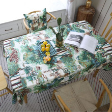 New Table Cloth Digital Printing Tablecloth Fabric Thickened Cotton Wind Wedding Cover For Home Decoration