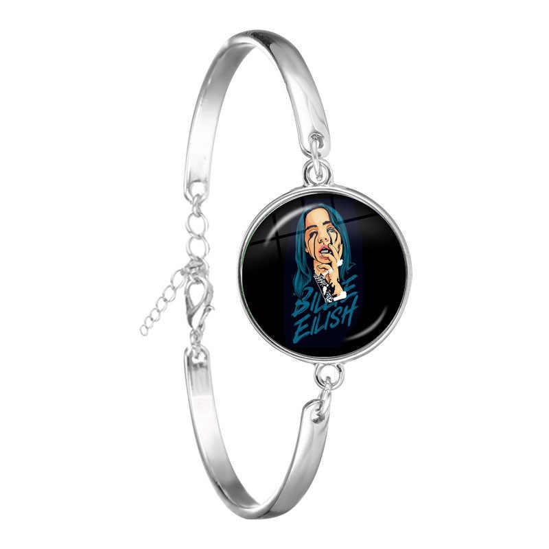 Hip Hop Billie Eilish bransoletka popularne młoda piosenkarka Harajuku obraz muzyka Hip-Hop szklana kopuła złego faceta bransoletka biżuteria