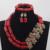 Rojo Coral Perlas Africanas Sistemas de La Joyería de moda Real Novias CNR730 Vino Rojo Coral Juego de Bisutería para Las Mujeres Caliente