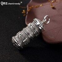 S925 Sterling Silver Amy Buddha cylinder Locket Pendants Buddhist Amulets Gawu Memorial Men Women Storage Necklace Jewelry