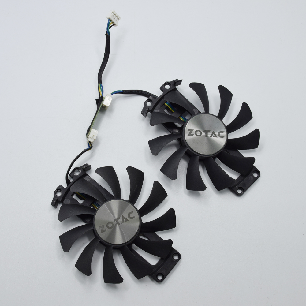 75mm GA91S2H GA81S2U DC 12V 0.35A 4Pin Cooler <font><b>Fan</b></font> Replacement For <font><b>ZOTAC</b></font> GTX960 <font><b>GTX</b></font> <font><b>960</b></font> Graphics Video Card Cooling <font><b>Fans</b></font> image