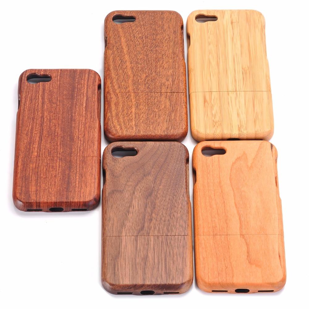 imágenes para 100% Verde Natural Real de Madera De Bambú Dura de Nuevo Caso Para iphone 7 6 6 s plus cubierta de la caja del teléfono shell protector de la piel bolsa