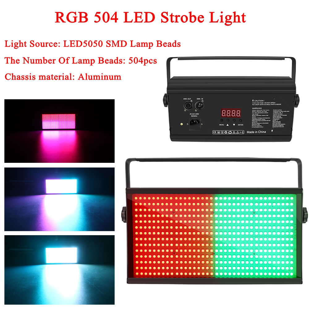 New 250w Rgb 504 Led Disco Strobe Light For Dj Party Club Bar Ktv Holiday Flash Auto Dmx Sound Activated Stage Lighting Effect
