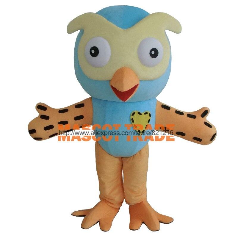 Offre spéciale professionnel nouveau Style grand hibou bleu mascotte Costume fantaisie taille adulte