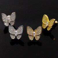 Fashion Crystal Butterfly Silver Earring For Women
