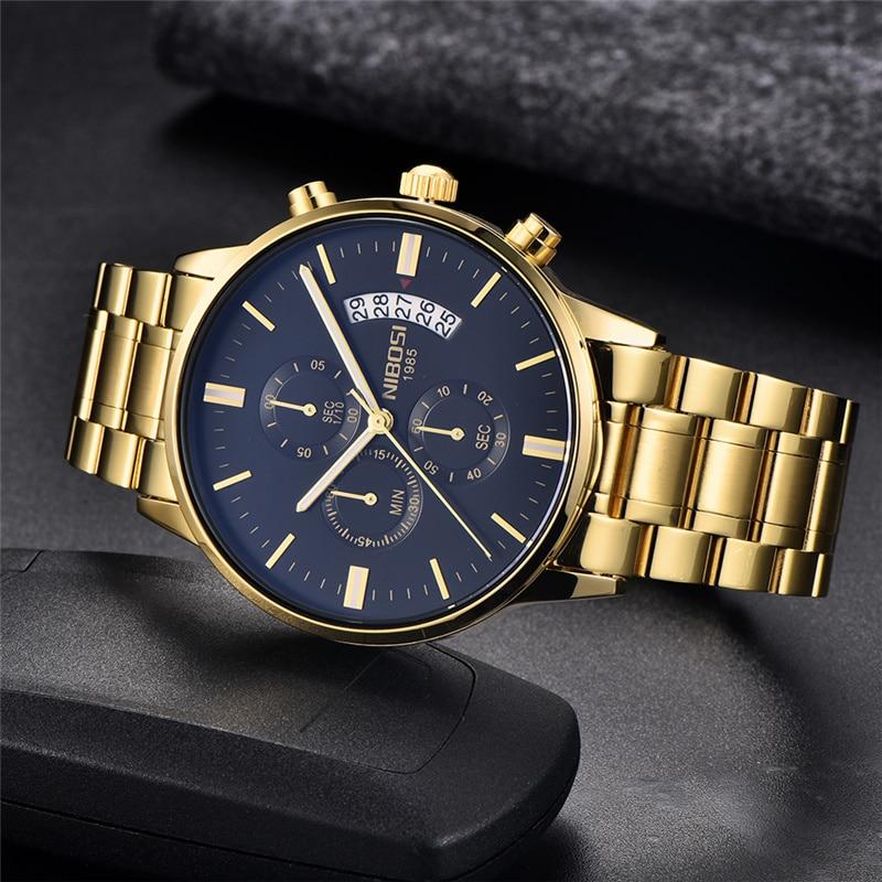 NIBOSI 2309 Relogio Masculino Men Watches Luxury Famous Top Brand Men's Fashion Casual Business Watch Military Quartz Wristwatch