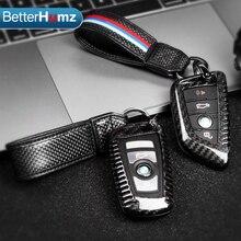الداخلية ألياف الكربون مفتاح حالة سلسلة مفاتيح حامل سيارة كيرينغ سلاسل المفاتيح التصميم ل BMW M الرياضة M5 M6 X1 X3 F30 f34 F48 G30 G01