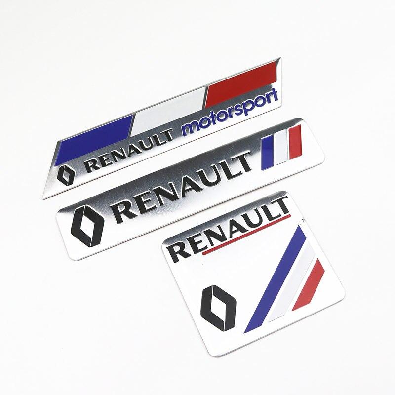Декоративные наклейки для автомобиля логотип 3D алюминиевая эмблема значок наклейка для Renault Megane 2 3 Duster Logan Clio Laguna 2 Captur