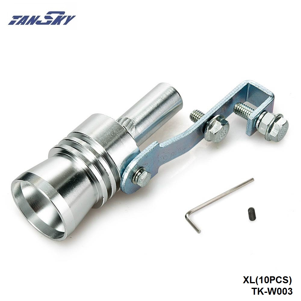 Universal Turbo Exhaust Whistle: 10PCS/LOT Universal Turbo Sound Exhaust Muffler Pipe