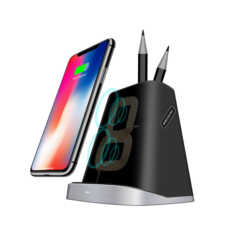 10 W 7.5 w Qi téléphone chargeur sans fil stylo Pot rapide sans fil chargeur support pour IPhone X XR XS Max 8 Samsung S8 S9 xiaomi