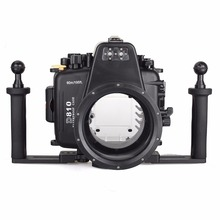 Meikon 40m/130ft Underwater Diving Camera Waterproof Housing Cases for Fujifilm X-A2 (16-50mm )+Meikon Two Hands Aluminium Tray