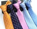 2016 новый мужской галстук бизнес повседневная мода свадьба Полька точка галстук волна полиэфирных нитей для человека бесплатная доставка высокого качество