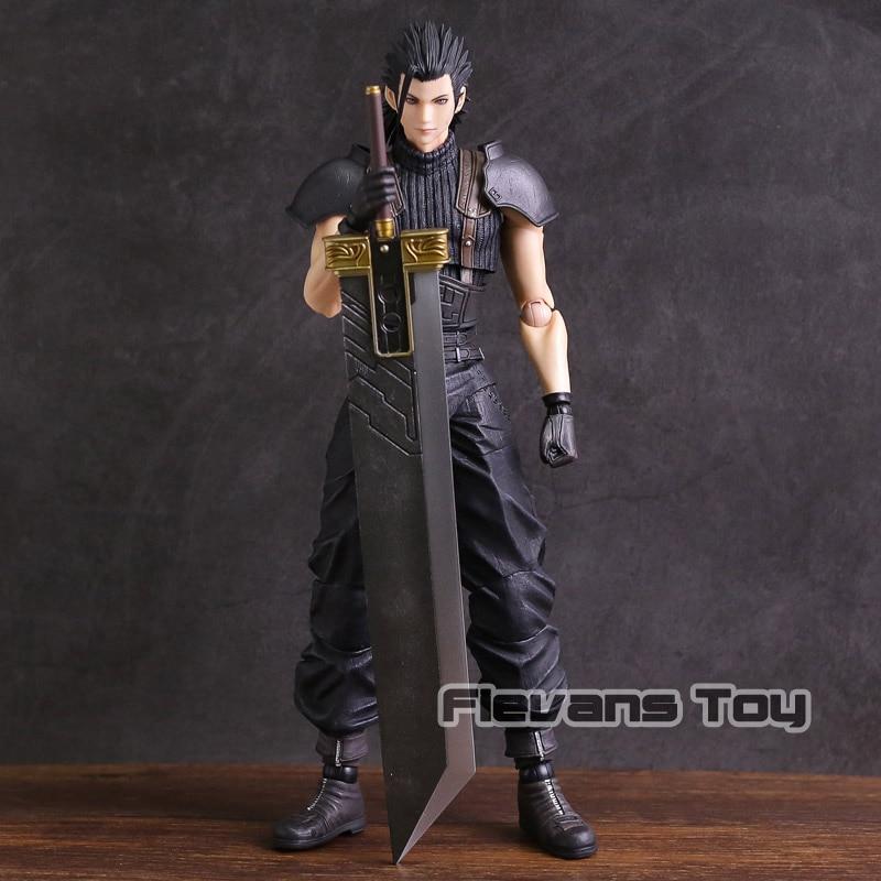 купить Genuine Play Arts KAI Final Fantasy VII Crisis Core Zack Fair PVC Action Figure Collectible Model Toy по цене 4158.74 рублей