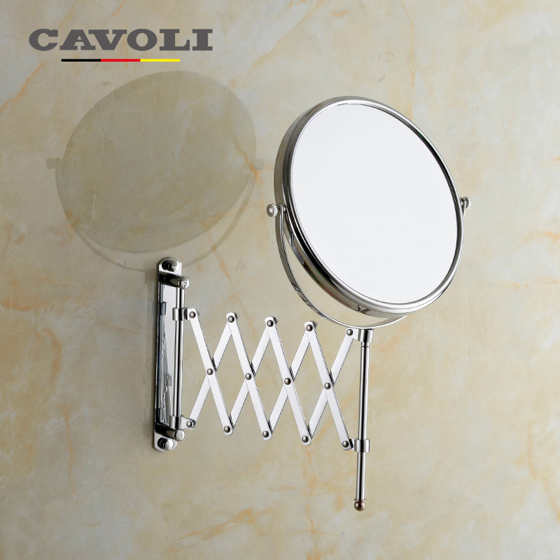 cavoli 8 inche 2face magnifying bath mirrors brass stainless steel chrome brand bathroom accessories