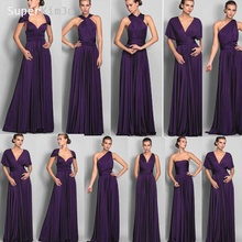 SuperKimJo Convertible Bridesmaid Dresses Long 2019 Purple Satin Cheap Custom Wedding Party Dress Vestido De Festa Longo