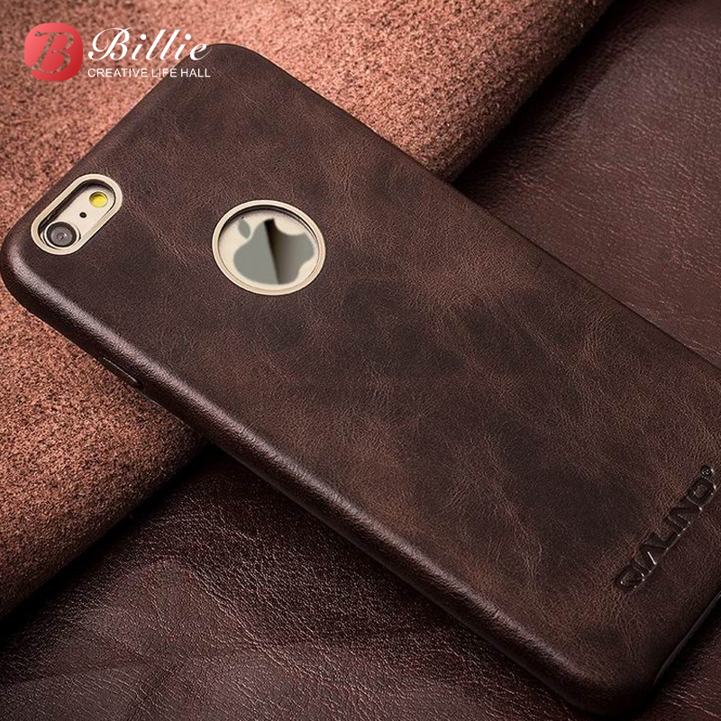 buy online 4e251 c3a34 US $33.9 |For iPhone 6 & 6s case Luxury Calf Skin Genuine Leather Case for  iPhone 6 4.7/5.5 Golden Frames for iphone6 & 6s cover Back Case-in Fitted  ...