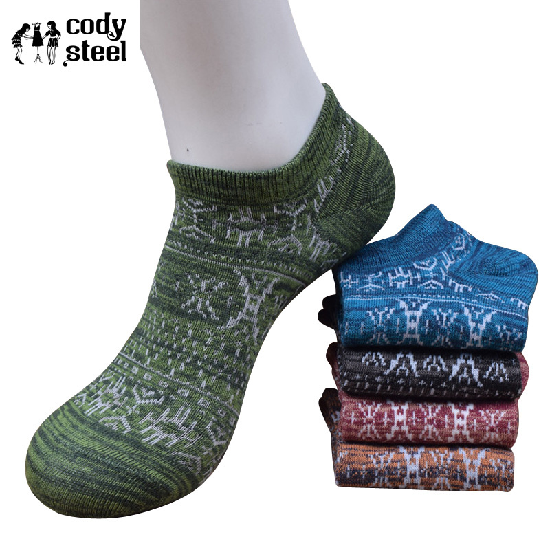 Official Website Cody Steel Summer Socks Men Fashion National Wind Man Short Socks Cotton Casual All-match Boat Socks Men 10pairs/lot Men's Socks