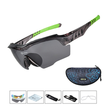 ROCKBROS Polarized Cycling Glasses WIndproof Cycling Sunglasses Fishing Cycling Bike Glasses 3 Lens Myopia Frame Bike Eyewear brand fashionable uv400 protection polarized cycling eyewear bike glasses cycling glasses sport glasses 3 lens free shipping
