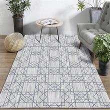 3D Geometric Printed Carpet Modern Bedroom Living Room Footpad Coffee Table Rugs Non-slip Model Decoration Home Carpets