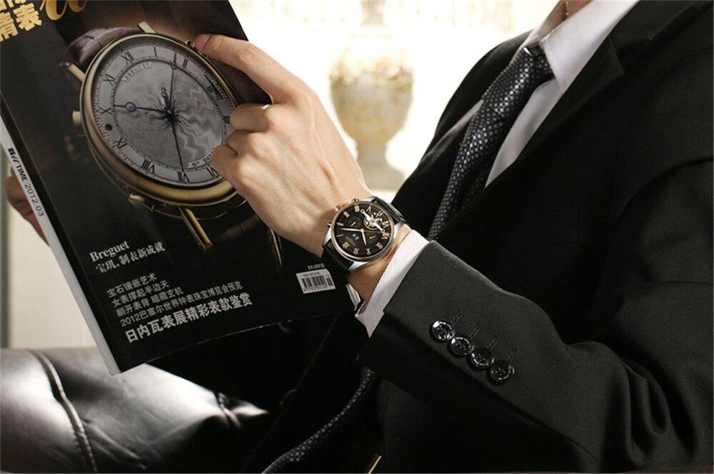 HTB1t5N1dCSD3KVjSZFKq6z10VXaT KINYUED 2019 Skeleton Tourbillon Mechanical Watch Automatic Men Classic Rose Gold Leather Mechanical Wrist Watches Reloj Hombre