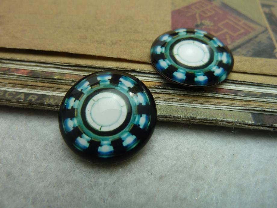 8pcs 20mm Handmade Photo Glass Cabochons (Iron Man Arc Reacto) GB61-22