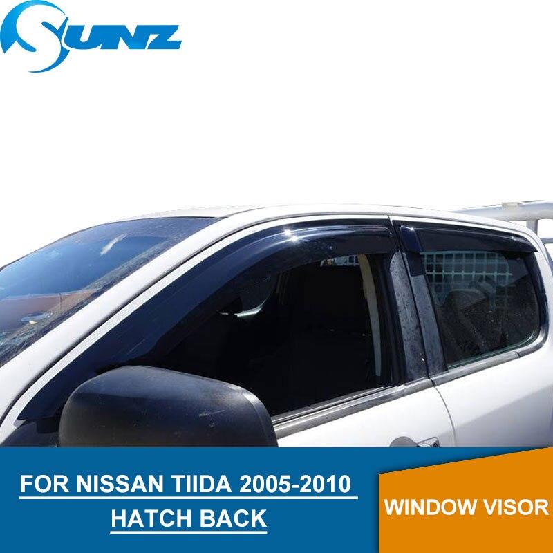 for Nissan TIIDA 2005-2010 Window Visor deflector Rain Guard HATCH BACK SUNZ