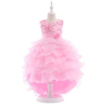 Cap Sleeve Ball Gown Cheap Flower Girl Dresses for Weddings Kid Prom Dresses Pageant Little Girl Dress Vestido De Festa