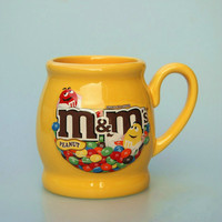 Cute M&M's MM Beans Drink Large Capacity Version of Foreign Trade Porcelain of Coffee Milk Cups Bowl Mugs