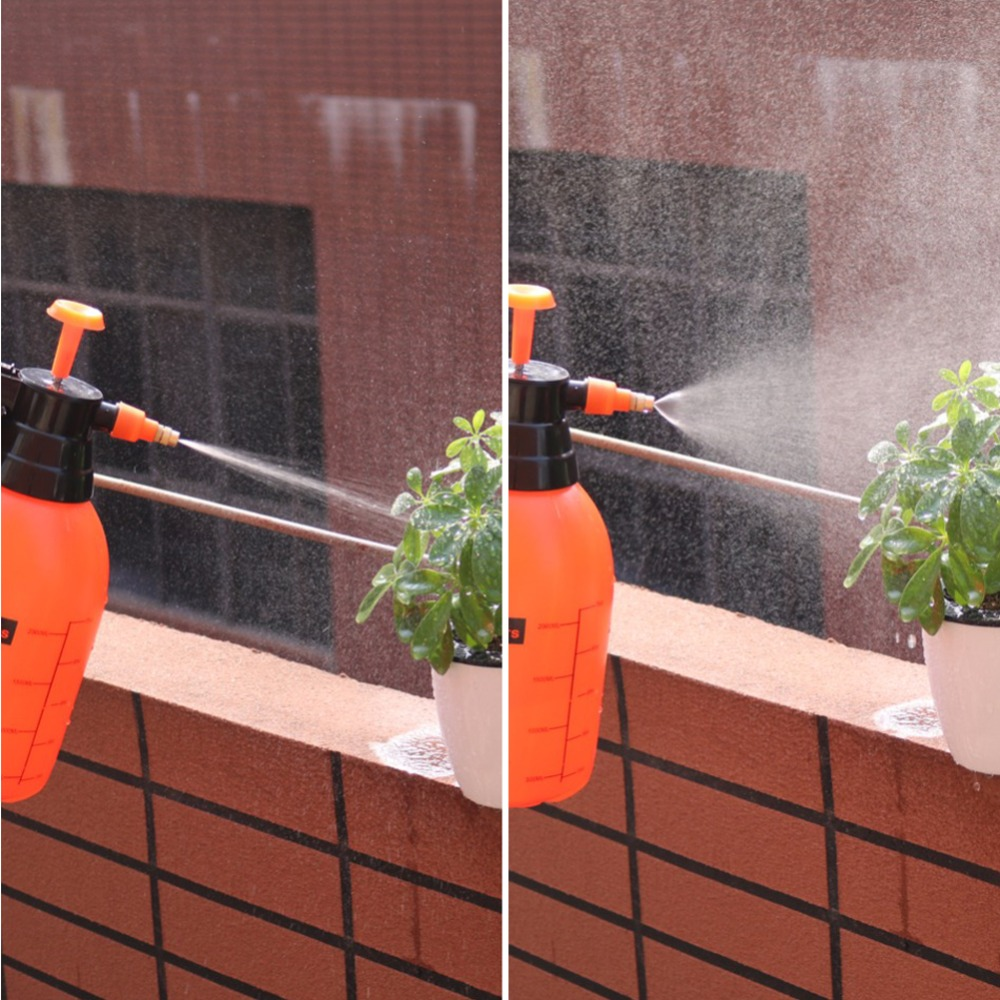 HTB1t5NJXcnrK1RjSspkq6yuvXXas 2L/3L Orange Hand Pressure Trigger Sprayer Bottle Adjustable Copper Nozzle Head Manual Air Compression Pump Spray Bottle 1 Pcs