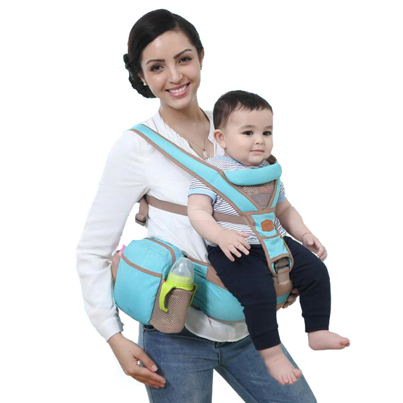 4af894304883 Calidad mambobaby niños diseñador porta bebé Sling hipseat kanguru envolver  mochila transpirable Infant Carrier 4 posiciones