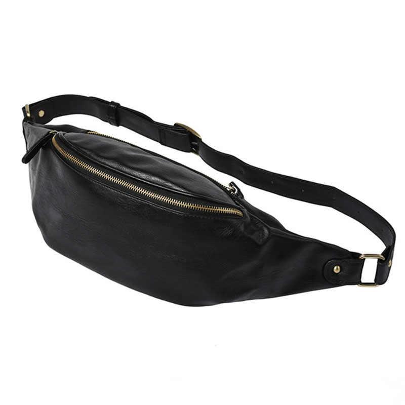 新ファッションの男性のウエスト胸バッグ Pu レザースポーツショルダーバッグカジュアル旅行クロスボディ屋外黒茶色のショルダーバッグバッグ